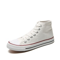 High Top Canvas Shoes Plain White Natural Rubber Sole Sneaker US Size13 And 14