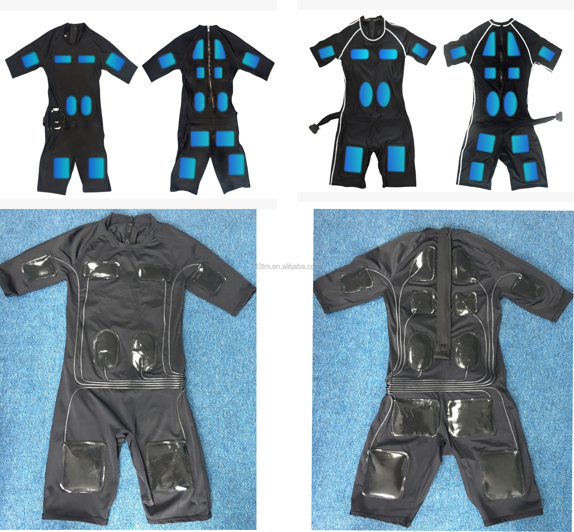 Second skin wireless ems fitness suit electric stimulator body suit