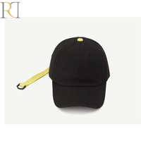 Custom best quality metal buckle fashion cotton long strap cap baseball