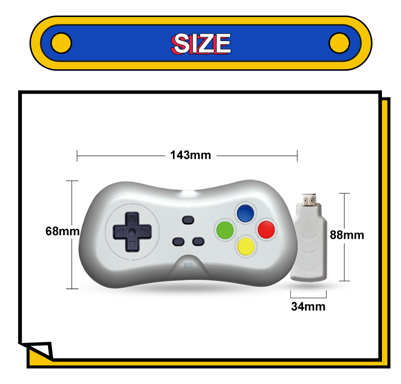 YLW Christmas Gift 2.4G Wireless Dongle Video Game Console Support HD TV Out Built in 638 Classic Games Dual Handheld Gamepads