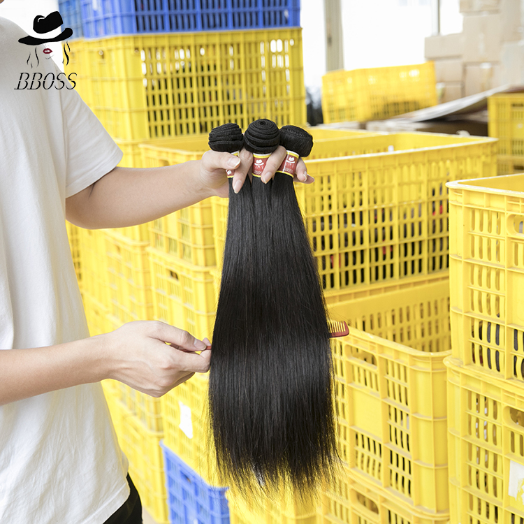 BEBOSS Free sample hair extension bundles,Qingdao hair factory virgin brazilian,wholesale double drawn hair extension <strong>human</strong>
