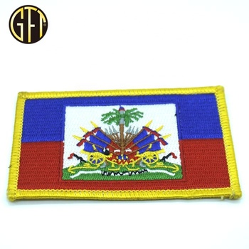 Hot sale  custom patches with woven countries embroidery badge