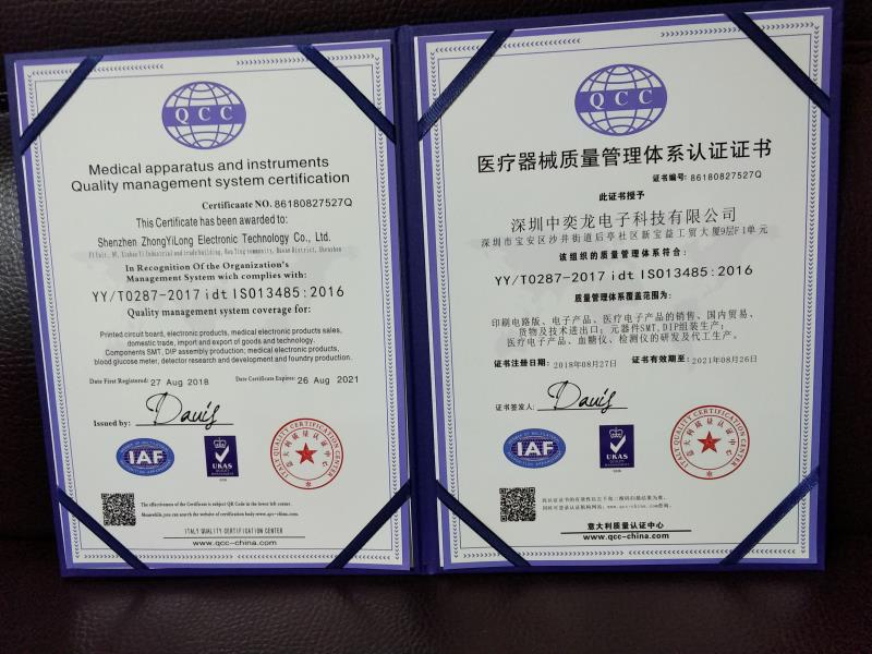 medical apparatus and instruments quality management system certification