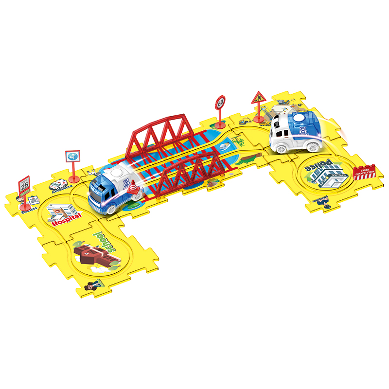 Battery Operated Toy Vehicle & Puzzle Track Sets For Kids  Glowing in Dark