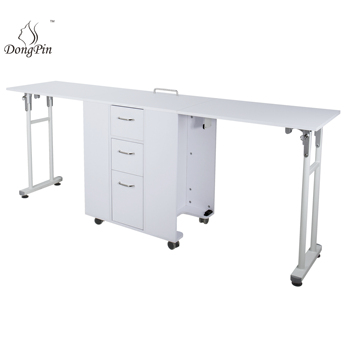 2019 new design folding tables hot sell in Europe folding manicure table nail station from Dongpin