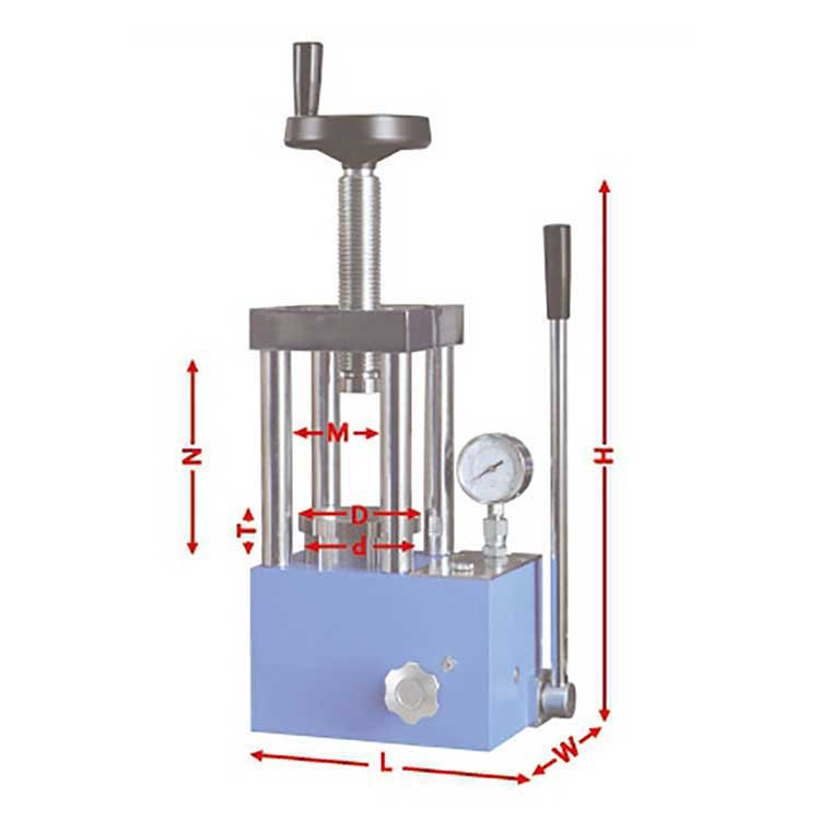 High-quality 60T lab hydraulic press with organic glass protection cover