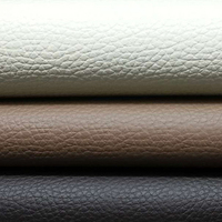 flame retardant customize lychee pattern faux leather colors for sofa covers