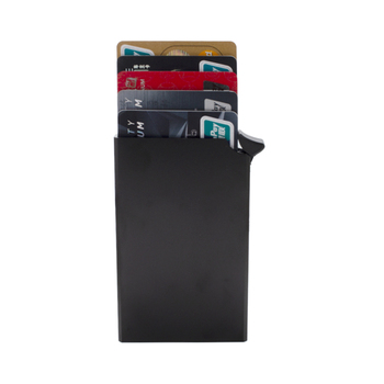 China supplier durable blocking metallic pop up rfid automatic card holder wallet