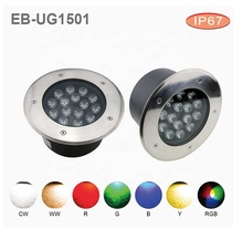 RGB 3-in-1 garden spot lighting Ip67 underground flood 15W path light