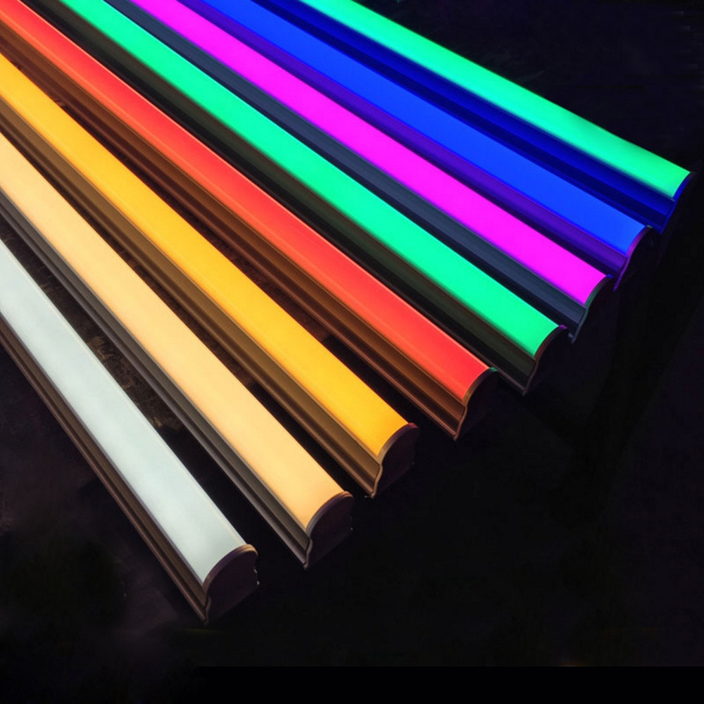 2FT 3FT 4FT 5FT 6FT 8FT T8 Color Tube Light RGB LED Fluorescent Tube