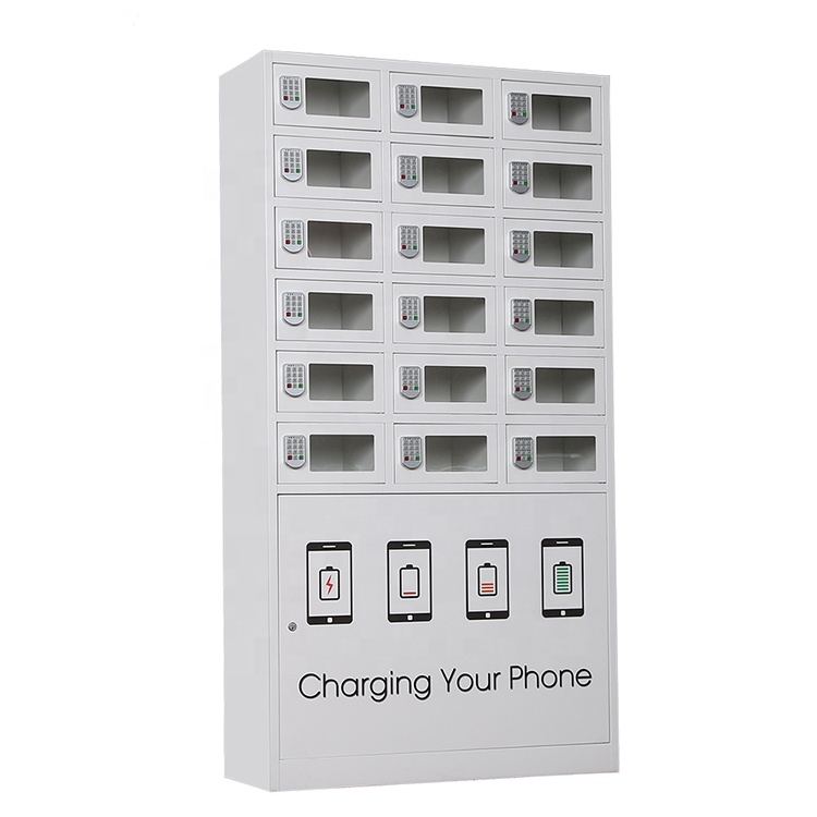 18 doors Cellphone Charging Locker Charging Station with PIN password lock