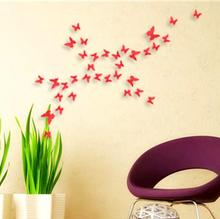 3D butterfly removable mural sticker <strong>wall</strong> sticker family and room <strong>decoration</strong>