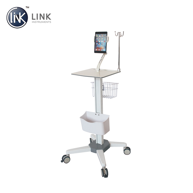 hospital computer device display cart medical simple ward round trolley