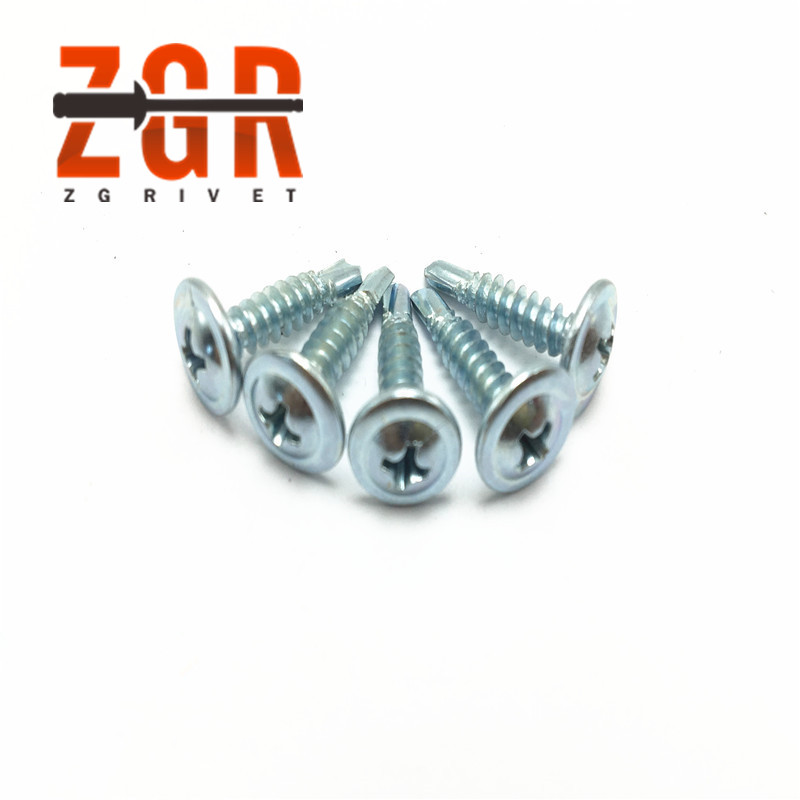 White Zinc plated truss/ wafer head <strong>C1022</strong> Self drilling <strong>Screw</strong> taiwan quality