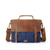 Retro briefcase satchel men tote shoulder laptop bags leather handle vintage messenger canvas bag with leather trim