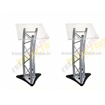 LE03 Aluminum furniture mobile standard truss lectern , truss podium
