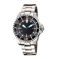 Men's 100ATM 1000 meters water resistant automatic diver watches 316L stainless steel deep diver watches luminous hands markers