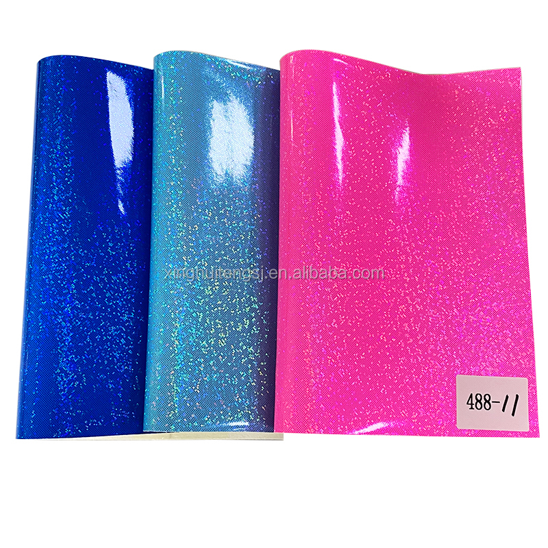 PU synthetic leather babysbreath film smooth pu leather  in roll  for making bags and shoes