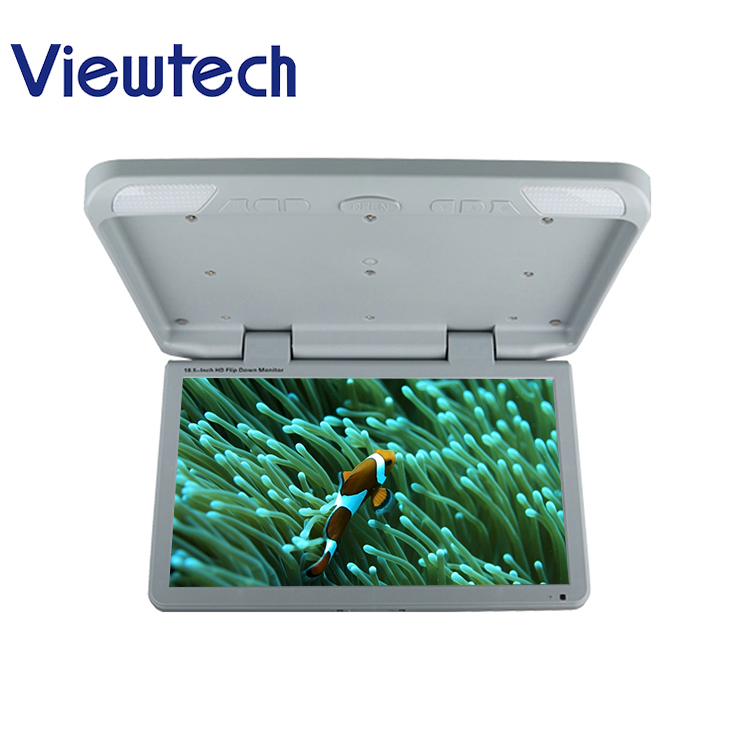 hot sale best quality New Arrival 18.5 inch unique design ceiling flip down HD DC <strong>12</strong> DC24V car bus tv monitor roof tv in bus