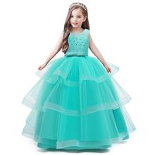 New kids princess <strong>dress</strong> for girls elegant birthday party <strong>dresses</strong> baby <strong>girl's</strong> christmas clothes 4 - 14yrs Y12409