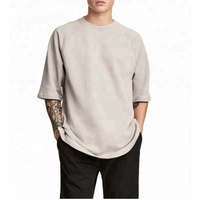Thick cotton 3/4 Sleeve Mmen t Shirts Plain Gym Shirt For men t shirt