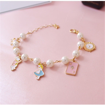 Hot Selling Fancy Charm Alice in Wonderland DIY Bracelet For Women