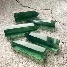 High Quality Natural Crystal <strong>Point</strong> Wand Healing reiki Gemstone Crystal Folk Crafts Green Fluorite <strong>Point</strong>