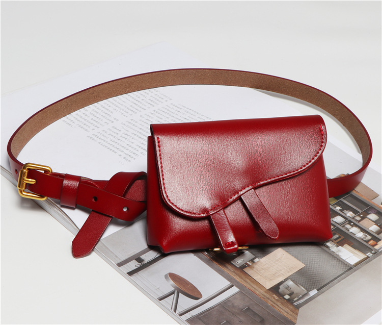 2019 New arrival cool fashion leather waterproof bum bag for woman