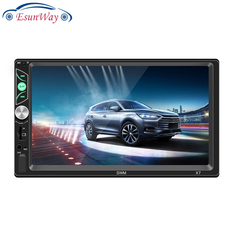 Car Video Players X7 7 inch Touch Screen MP5 Player FM Radio BT USB AUX RCA (<strong>w</strong>/ Cam) Stereo Multimedia Player
