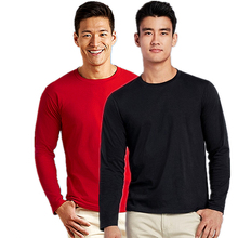 Wholesale Custom Your Own Logo 76400 100% Cotton <strong>T</strong> <strong>Shirt</strong> Long Sleeve Blank <strong>Men's</strong> <strong>Shirts</strong>