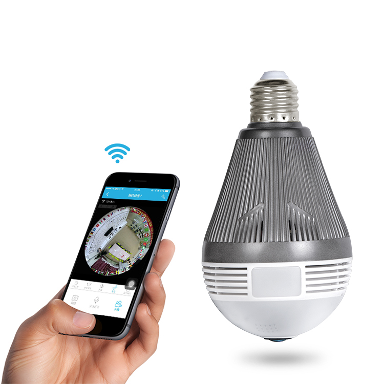 Fisheye 1920P 5MP Hidden Mini Infrared 360 Degree ONVIF IP Starlight Remote Wireless <strong>Security</strong> 360 Panoramic Bulb Camera