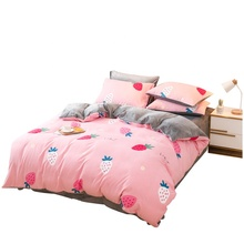 Luxurious Big flowers printed bedding <strong>set</strong> quilt covers