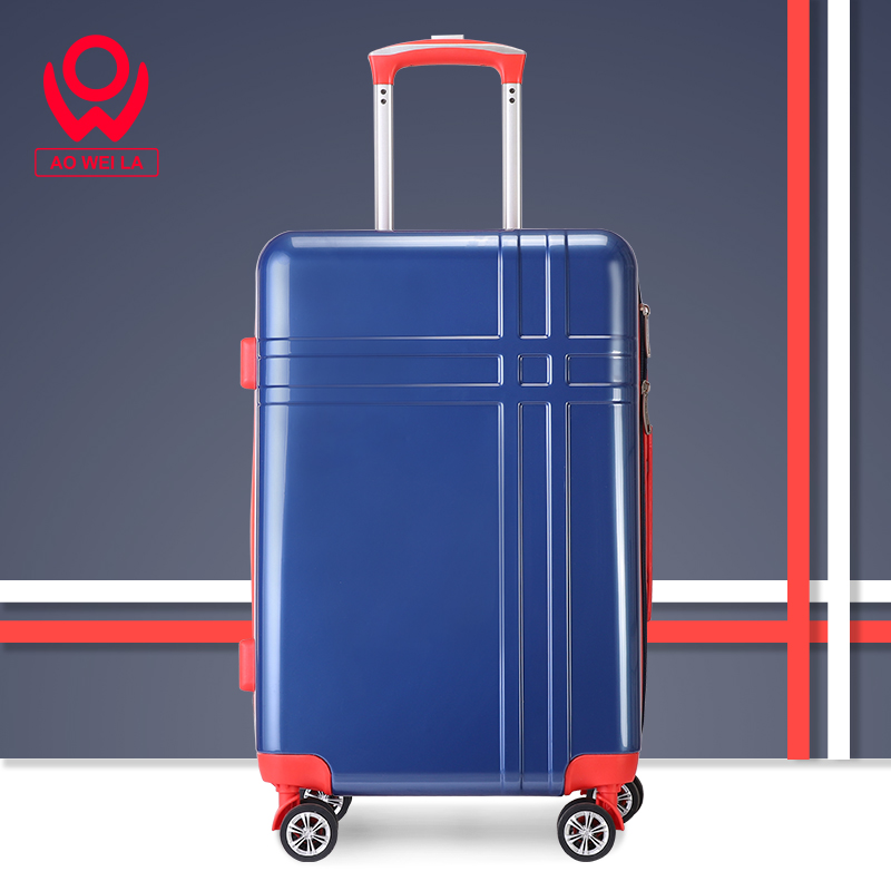 Aoweila Hot sale large quantities of cheap customized luggage, pressure resistant and wear-resistant striped suitcases 182022 inches