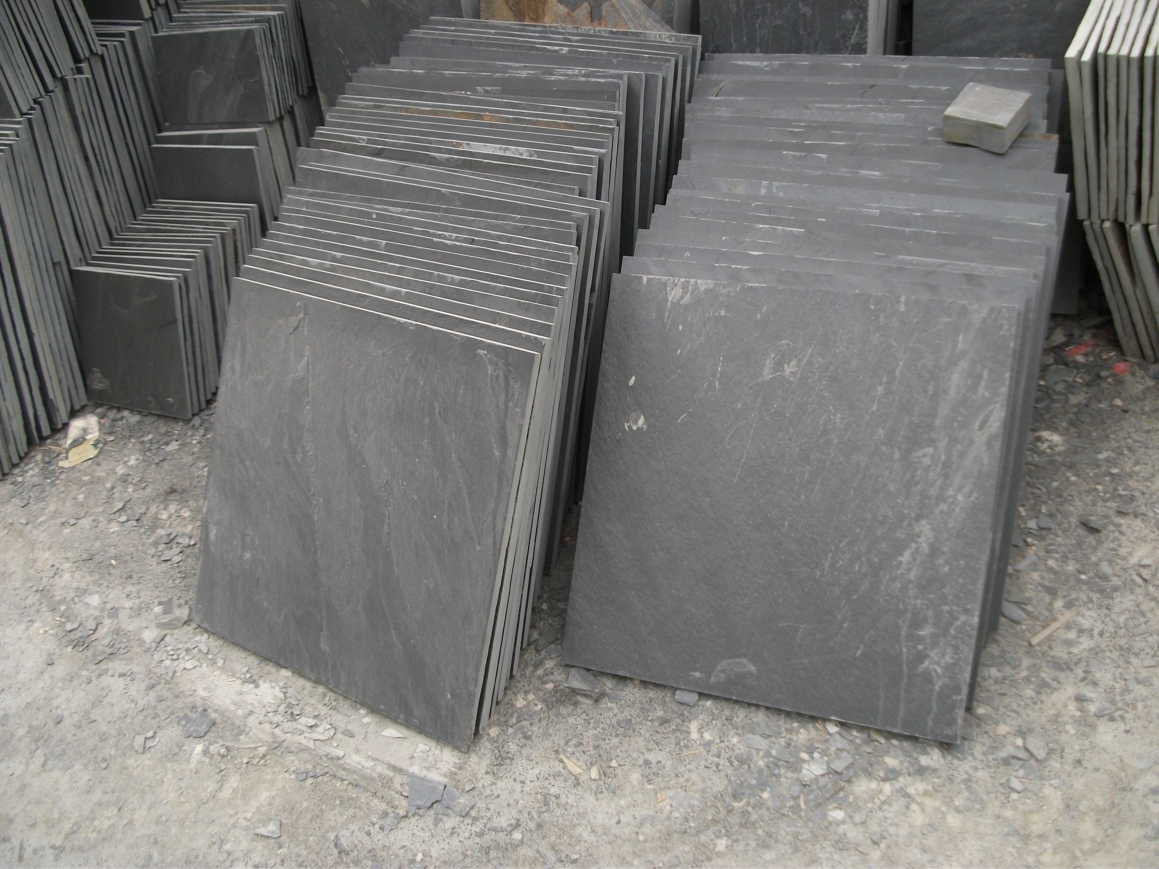 Cheap exterior wall cladding black slate for sale