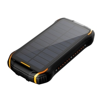 2020 unique design solar power charger 20000mAh outdoorCamping Led lights 26800mAh solar power bank waterproof