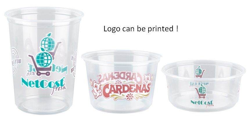 China 28 years factory custom 8 oz pp  package food container for dinner , disposable pp food deli cup