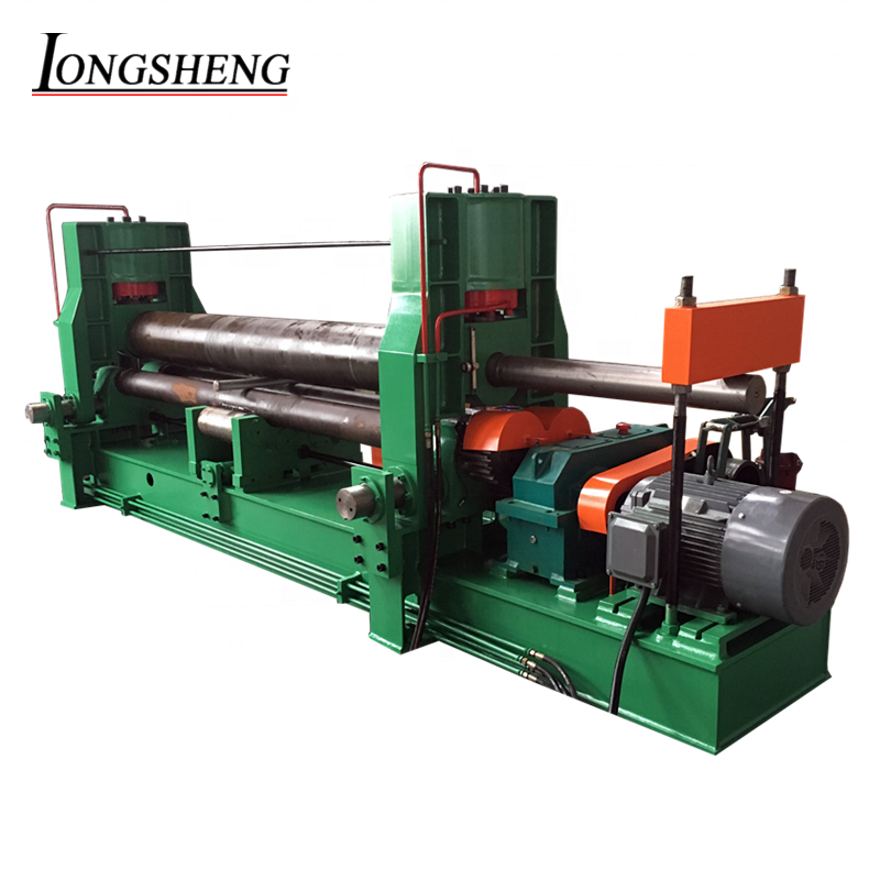 Longsheng <strong>W11S</strong> 3 roll heavy duty hydraulic steel <strong>plate</strong> <strong>rolling</strong> <strong>machine</strong> 25mm bending <strong>machine</strong>