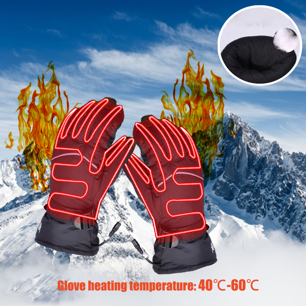 Motorcycle heating hand cover waterproof hand warmer touch screen ski hand kit winter warm ski mountaineering