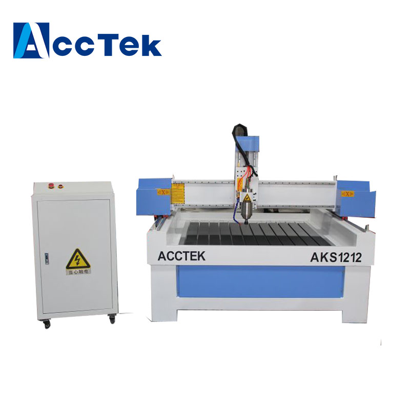 Jinan AccTek high precision <strong>cnc</strong> carving stone working machine AKS1212 with 5.5 kw water cooling spindle
