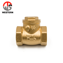 FxF ISO228 PN20 200WOG Manual Sand Blasted brass Horizontal swing mini check <strong>valve</strong>