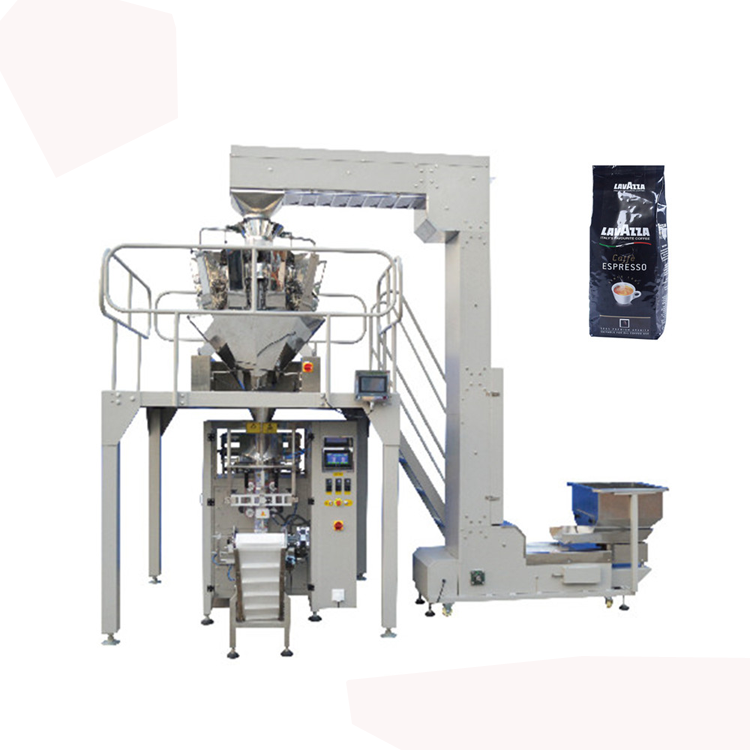 Automatic Granule Sachet filling machine vertical weighing packaging system For 5kgs Sugar Rice beans with 10 head auto weigher