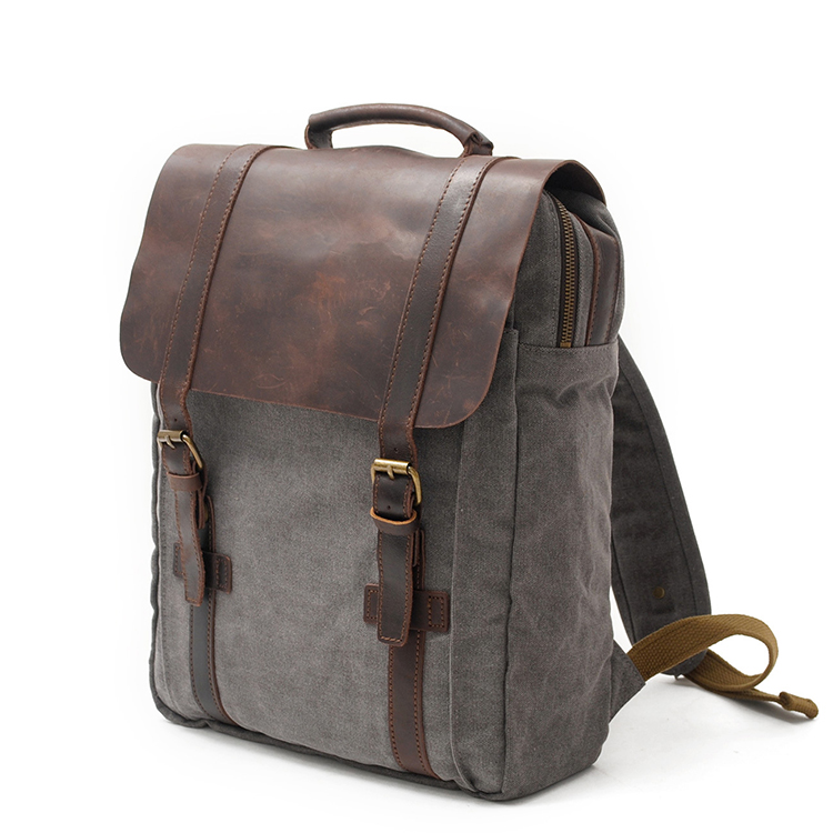 2019 Trend Vintage Rucksack Canvas Mochila Antirrobo Flap Pocket Backpack Anti Theft College <strong>Bags</strong> for Men Leather Bagpack