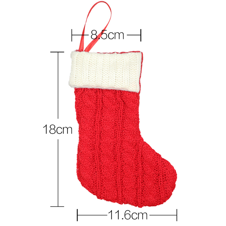 Decorative DIY Wholesale Knitted Christmas Stocking
