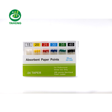 Dental Material 02 04 06 Taper Absorbent Paper <strong>Points</strong> for Dental Files