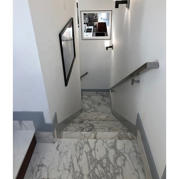 Wholesale wall flooring decorative grey veins white calacatta marble tile
