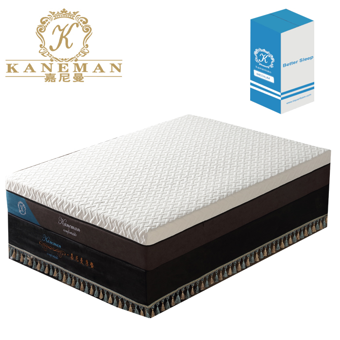factory wholesale customized 4 layers natual latex memory foam mattress roll up in box for online sale - Jozy Mattress | Jozy.net