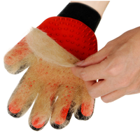 Cat Dog Cleaning Pet Grooming Gloves Manufacturer Pet Glove Brush Black Red Horse Hair Brush pet cleaning grooming hand glove