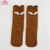 Ready To Ship Hosiery Animal Pattern Baby Stockings Soft Cotton Knee High Socks Cute Cartoon Baby Girls Cute Grey Fox Socks