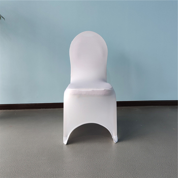Cheap white universal arch front stretch spandex banquet chair slipcovers wedding chair covers fundas para sillas housse chaises