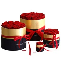 Wholesale roses preserved long lasting Valentine's Day round eternal flower preserved rose in box